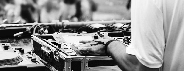 event DJ - sort/hvid billede